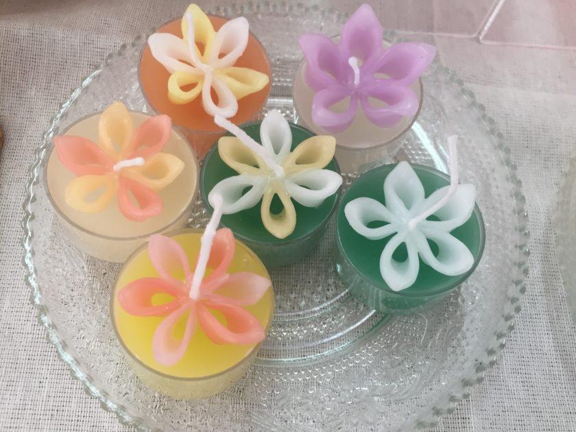 お花のティーライトキャンドル