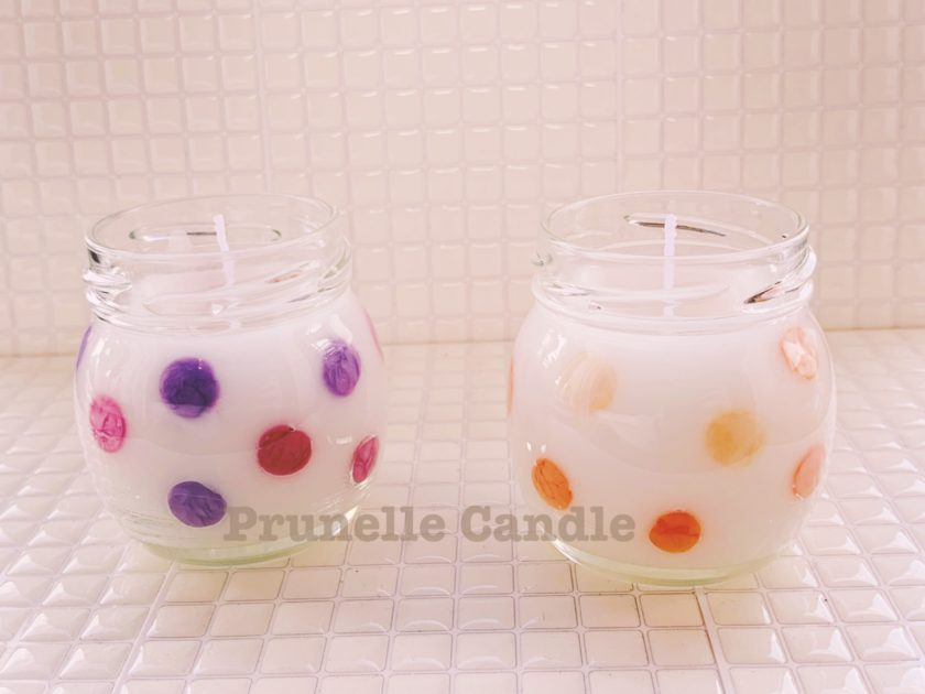 水玉グラスキャンドル