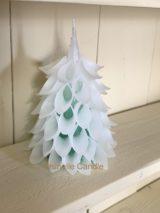 ミニホワイトクリスマスツリーキャンドル